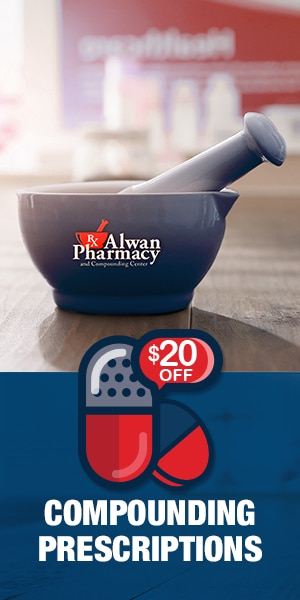 Alwan Pharmacy - Display Advertisement - $20 Off Compounding Prescriptions
