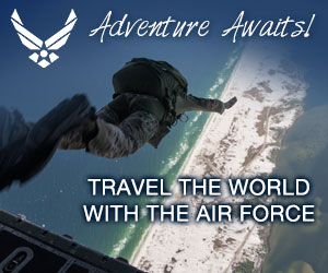 Display Advertisement - Air Force - Adventure Awaits - Travel the World with the Air Force
