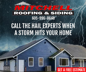 Mitchell Roofing Display Advertisment